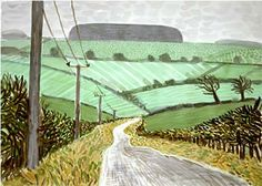 David Hockney Road and Telegraphic Poles. East Yorkshire 2004