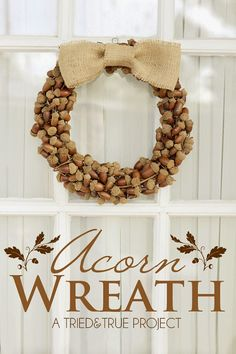 There are so many natural items that can be used to make a beautiful fall or winter wreath. Take a walk through your backyard or visit the local farmer's market and see what you can create. Acorn Wreath Tried & True Blog  Boxwood Wreath Mustard Seed Interiors  Simple Corn Husk Wreath Design Improvised …