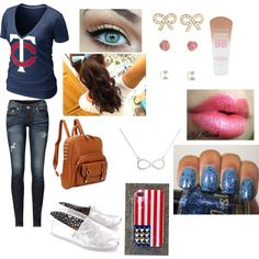 """""""baseball game date (first date)"""" by jmouellette-1 on Polyvore"""