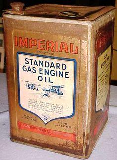 Imperial Vintage Oil Cans, Vintage Tins, Vintage Labels, Old Gas Pumps, Vintage Gas Pumps, Gas Service, Standard Oil, Old Gas Stations, Vintage Graphic Design
