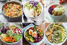 Bol de Bouddha: recettes de bol de BouddhaGroßartig Bol de Bouddha: recettes de bol de Bouddha Healthy Shrimp Scampi combines the classic flavors of the dish with simple swaps like using zoodles zucchini noodles) instead of pasta for a lighter meal! Low Carb Shrimp Recipes, Veggie Recipes, Dinner Recipes, Healthy Recipes, Healthy Food, Quinoa, Summer Corn Salad, Halloumi Salad, Avocado