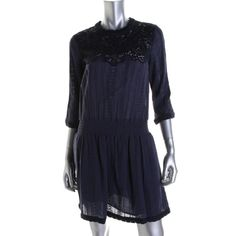 Sea New York Womens Eyelet 3/4 Sleeves Casual Dress