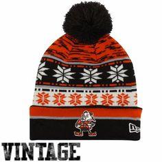 New Era Cleveland Browns Pom Blizz Cuffed Knit Hat - Brown