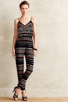Sequin Stripe Jumpsuit #anthrofave