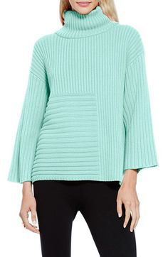 Vince Camuto Ribbed Turtleneck Sweater (Regular & Petite)