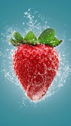 Photo Fresh Strawberry by Sjoerd Stellingwerf on Fruit And Veg, Fruits And Veggies, Fruits Photos, Strawberry Fruit, Strawberries, Food Wallpaper, Wallpaper Ideas, Fruit Photography, Beautiful Fruits