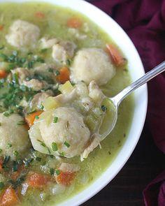 Paleo Chicken and Dumplings Soup