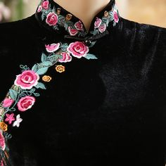 chinese dress high collar cheongsam            https://www.ichinesedress.com/