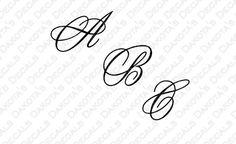 Flutterby Monogram Font SVG for Download