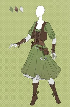 CLOSED Fashion adoptable ~ Herbalist outfit by Ayleidians on DeviantArt