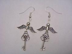 Harry Potter  Flying  Key Earrings  in by paulandninascrafts, $7.99