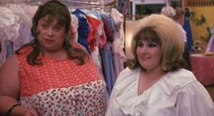 Divine (as Edna Turnblad) and Ricki Lake (as Tracy Turnblad) from John Waters' Hairspray, 1988 #Divine #JohnWaters #Hairspray #RickiLake