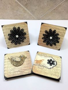 3x3 Mini Cards Set of 4 by CraftsByKesh on Etsy