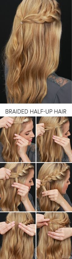 How-To: Half-Up Braided Hair Tutorial