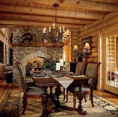 En mi comedor hay es un grande mesa.  Hay es cuatros sillas y un grande chimenea. Hay es un arana y dos lampas. Hay es un largo ventana.