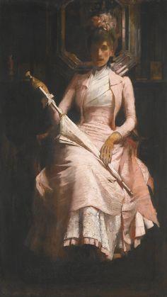 The Pink Silk Dress  Sir James Jebusa Shannon
