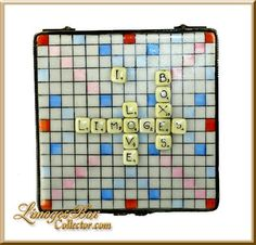 "Limoges Scrabble Game Box ""I Love Limoges Boxes""."