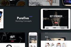 Purefive Multipurpose Website HTML Template Html Website Templates, Template Site, Blog Layout, Portfolio Layout, Location Pin, Ecommerce Shop, Clean Design, Wordpress Theme