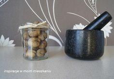 inspiracje w moim mieszkaniu: Kamienny moździerz w jesiennej aranżacji / Stone m...