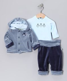 Take a look at this Indigo Gari Hoodie Set - Infant & Toddler by dudu on #zulily today!