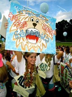 Pretty sure lions are Alpha Delta Pi's mascot but this could fit the theme if it carries to bid day.