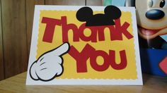 Creative Cutter Room: DT Member Tonya! Mickey Party Invitation and Thank You