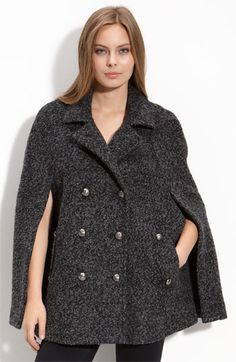 Laundry Shelli Segal Double Breasted Cape with pockets #Shelli_Segal #Cape