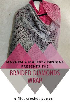 Crochet this gorgeous wrap to add your modern handmade wardrobe. Filet Crochet, Crochet Shawl, Crochet Stitches, Unique Crochet, Beautiful Crochet, Crochet Wrap Pattern, Crochet Patterns, Crochet Scarves, Crochet Clothes