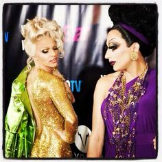 Courtney Act and Bianca del Rio. So much perfection in one picture. What's not to love? Two of the final three of RuPaul's Drag Race season 6.