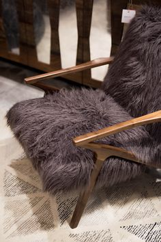 Sitting pretty. Shop modern loungers and more at HOWSE in NWA and Little Rock. #Modern #MidCentury #Fur #Chair #Furniture #Home #Decor