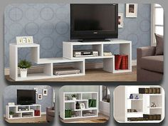 Details about Modern TV Stand Entertainment Book Case Media Center Table Wood Shelf Console Smart Furniture, Modular Furniture, Contemporary Furniture, Home Furniture, Furniture Design, Tv Wall Design, Tv Unit Design, Bed Design, Modern Tv Wall Units
