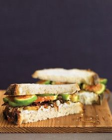 Fig, Goat Cheese, and Caramelized Onion Sandwiches - Martha Stewart Recipes
