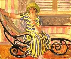 The Cigarette by Henri Lebasque - French, 1865 - 1937
