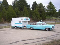 Nice El Camino and camper