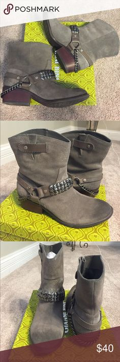 Gianni Bini Rare Grey Booties / Boots Like new only worn once rare Slate Grey Gianni Bini booties. Other seller has them listed for over $70- I just need to get rid of them so I'm selling them for a steal. Comes with original box if you want it. Ask if you have any questions! Gianni Bini Shoes Ankle Boots & Booties