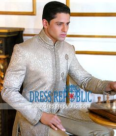 Style DRM1354, Product code: DRM1354, by www.dressrepublic.com - Keywords: Mens Sherwani Shops Toronto, ON Canada, Jodhpuris, Achkans, Grooms Sherwani Shops Toronto Indian Reception Dress, Indian Wedding Gowns, Indian Bridal Wear, Indian Wear, Indian Men Fashion, India Fashion, Mens Fashion, Sherwani Groom, Mens Sherwani