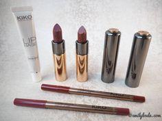 KIKO Haul emilyloula blog, lipsticks lip liners lip base primer