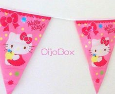 Sanrio Hello Kitty Birthday X'mas Party Bunting Flag Banner Decorations 3.6m