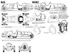 Alfa Romeo 8C35, 12C36/37 (1935-37) | SMCars.Net - Car Blueprints Forum