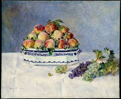 Auguste Renoir (French, 1841–1919). Still Life with Peaches and Grapes, 1881. The Metropolitan Museum of Art, New York. The Mr. and Mrs. Henry Ittleson Jr. Purchase Fund, 1956 (56.218)
