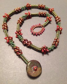 Love Dragon Scale beads!  Beth Stone