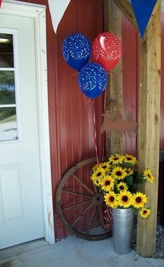 Sunflower Arrangement at a Western Party
