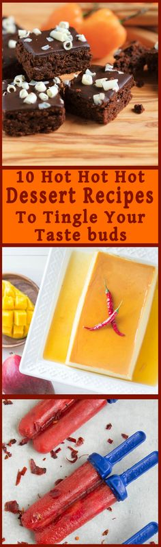 Turn up the heat with these hot pepper spiked desserts. 10 ways to satisfy your sweet tooth and your chile addiction. Get the recipes. Hot Desserts, Trifle Desserts, Best Dessert Recipes, Chocolate Desserts, Sweet Recipes, Delicious Desserts, Yummy Food, Best Pastry Recipe, Pastry Recipes