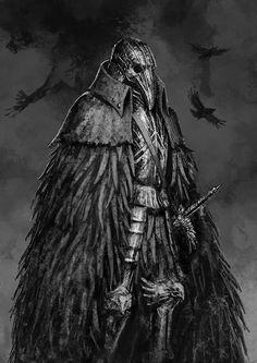 Crow Knight by Rotaken.deviantart.com on @DeviantArt