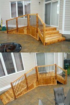 Trex Accents Deck With Ramp Decks By Suncoastdeck Com