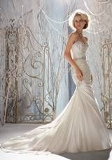 Bridal Dress: Mori Lee Bridal FALL 2013 Collection: 1958 - Crystal Beaded Embroidery on Soft Satin