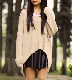 Hi-lo sweaters.