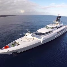 Silver Marine #Superyacht M.Y. Silverfast with Helicopter on bow in Western Australia