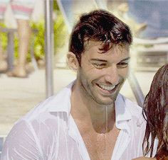 Pin for Later: 21 Times Jane the Virgin's Rafael Gave You Serious Hot Flashes Jane Softens a Bit, Too Jane The Virgin Rafael, Jane And Rafael, Rafael Solano, Justin Baldoni, Famous In Love, Movie Couples, Film Serie, Baby Daddy, Good Looking Men