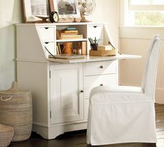 Graham Smart Technology™ Secretary | Pottery Barn. I would love something like this for my bedroom downstairs!